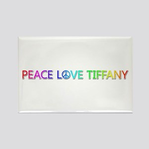 Peace Love Tiffany Rectangle Magnet
