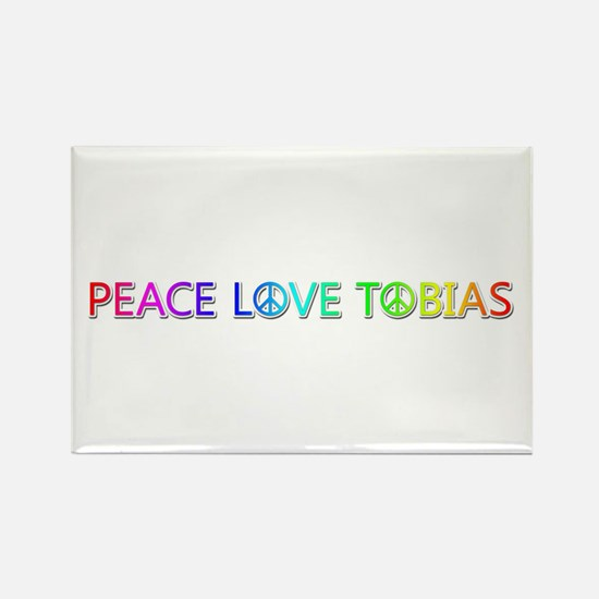 Peace Love Tobias Rectangle Magnet