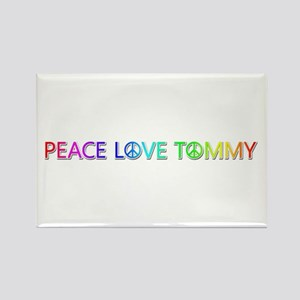 Peace Love Tommy Rectangle Magnet