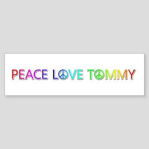 Peace Love Tommy Bumper Sticker