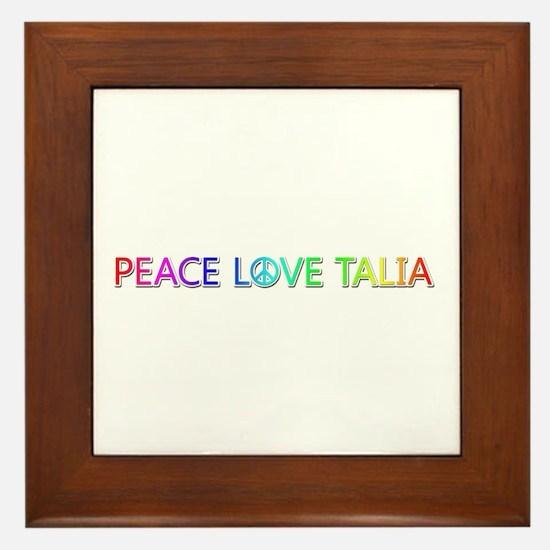 Peace Love Talia Framed Tile