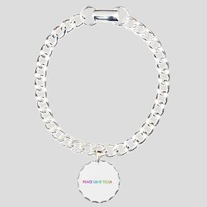 Peace Love Tessa Charm Bracelet