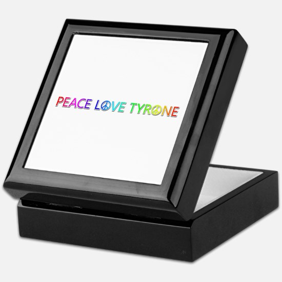 Peace Love Tyrone Keepsake Box