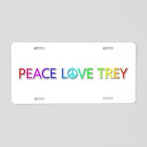 Peace Love Trey Aluminum License Plate