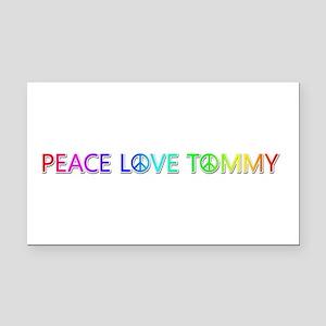 Peace Love Tommy Rectangular Car Magnet