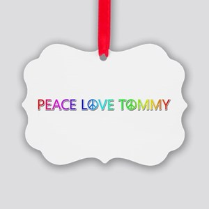 Peace Love Tommy Picture Ornament
