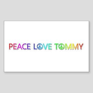 Peace Love Tommy Rectangle Sticker