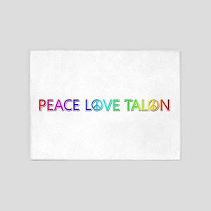 Peace Love Talon 5'x7' Area Rug