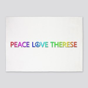 Peace Love Therese 5'x7' Area Rug