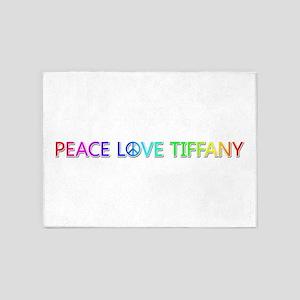 Peace Love Tiffany 5'x7' Area Rug