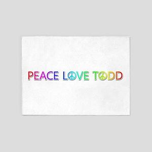 Peace Love Todd 5'x7' Area Rug