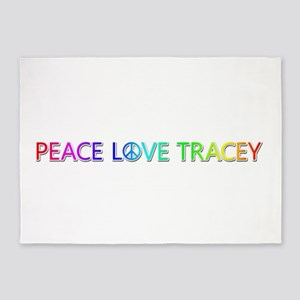 Peace Love Tracey 5'x7' Area Rug
