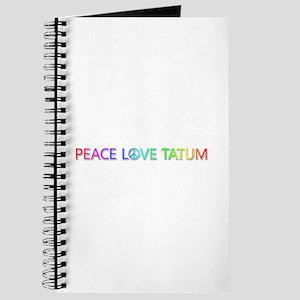 Peace Love Tatum Journal