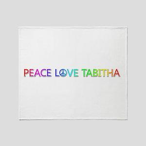 Peace Love Tabitha Throw Blanket