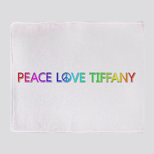 Peace Love Tiffany Throw Blanket
