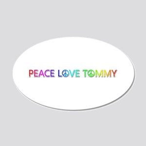Peace Love Tommy 20x12 Oval Wall Decal