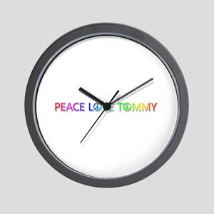 Peace Love Tommy Wall Clock