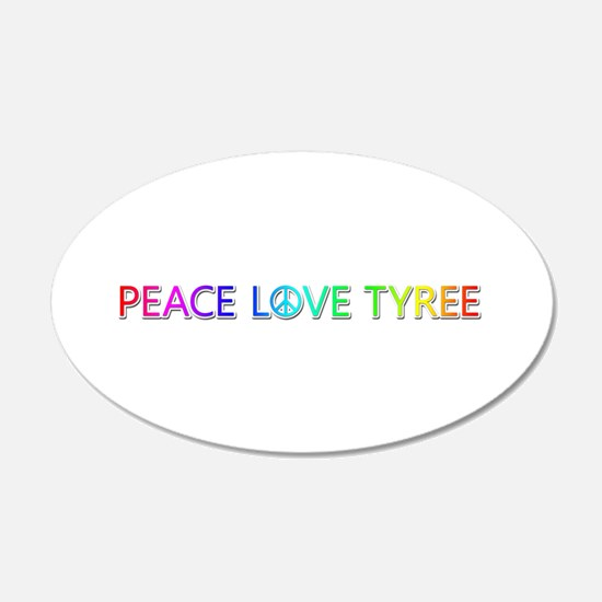 Peace Love Tyree Wall Decal
