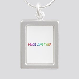 Peace Love Tyler Silver Portrait Necklace