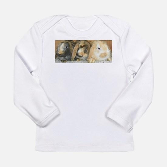 Harlequin Mini Lop Trio Long Sleeve T-Shirt