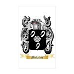 Michallon Sticker (Rectangle 50 pk)