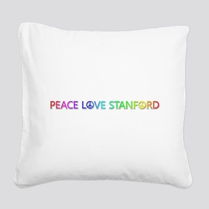 Peace Love Stanford Square Canvas Pillow