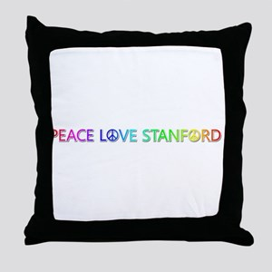 Peace Love Stanford Throw Pillow