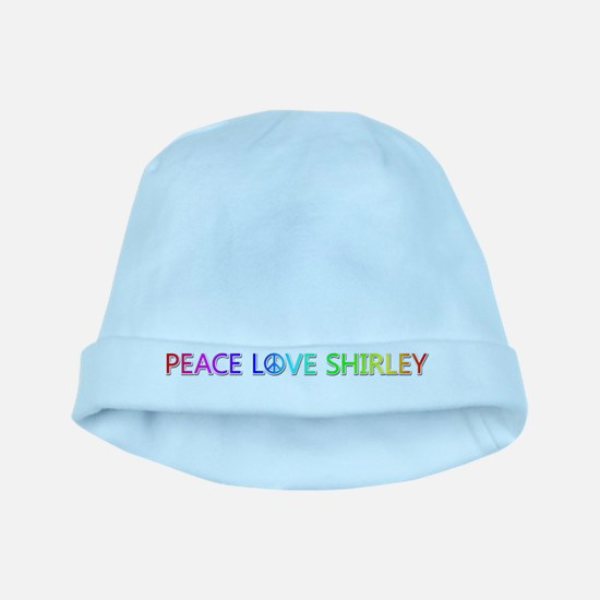 Peace Love Shirley baby hat