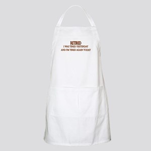 Retired and Tired saying Apron