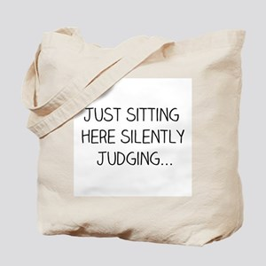 Silently Judging Tote Bag