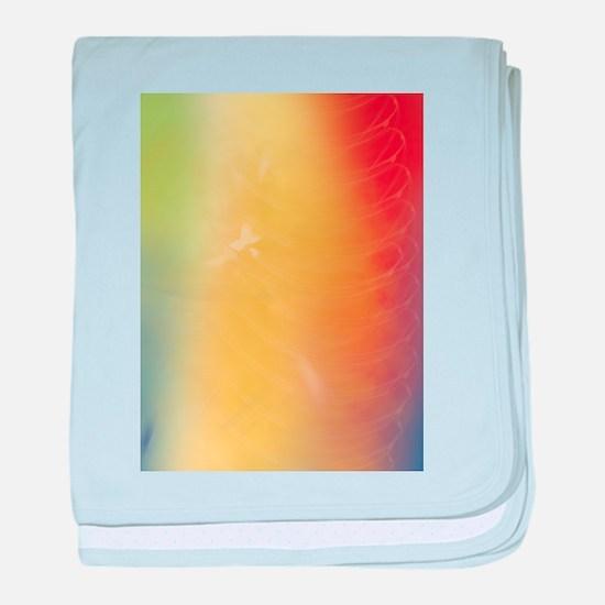 Warm Abstract Art baby blanket