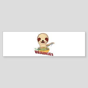 Zombie Sloth Bumper Sticker