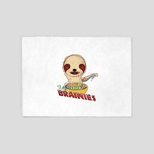 Zombie Sloth 5'x7'Area Rug