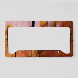 Golden Graffiti Goldfish License Plate Holder