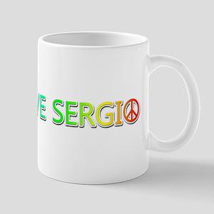 Peace Love Sergio Mugs