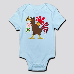 Christmas Trumpeting Rooster Body Suit