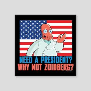 "Futurama Why Not Zoidberg Square Sticker 3"" x 3"""