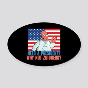 Futurama Why Not Zoidberg Oval Car Magnet