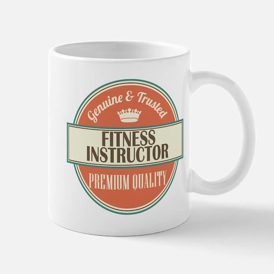 fitness instructor vintage logo Mug
