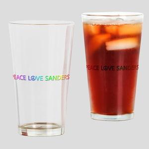 Peace Love Sanders Drinking Glass