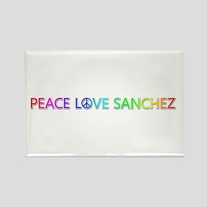 Peace Love Sanchez Rectangle Magnet