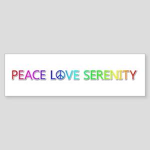 Peace Love Serenity Bumper Sticker