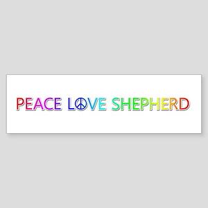 Peace Love Shepherd Bumper Sticker