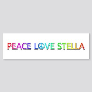Peace Love Stella Bumper Sticker