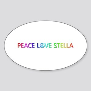 Peace Love Stella Oval Sticker