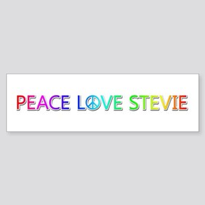 Peace Love Stevie Bumper Sticker