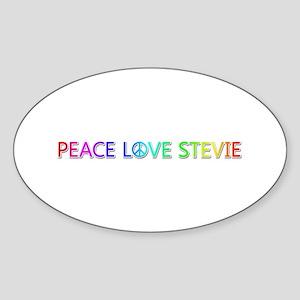 Peace Love Stevie Oval Sticker