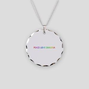 Peace Love Shawna Necklace Circle Charm