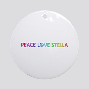 Peace Love Stella Round Ornament