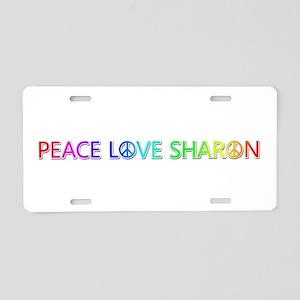 Peace Love Sharon Aluminum License Plate